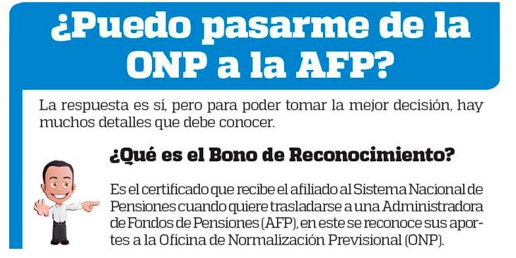 ¿Puedo pasarme de la ONP a la AFP?